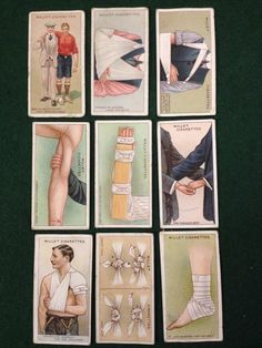 9 x Wills Cigarette Cards - Wills s First Aid - 1913 - No Duplicates