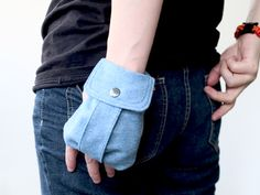 Wrist bag, neat idea for wheelchair users to keep the essentials handy without having a large bag in the way.