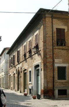Senigallia, casa di papa Pio IX, entrata e targa commemorativa, giugno 2014.