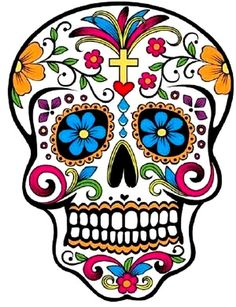 Items similar to mexican sugar skull sticker on Etsy Candy Skulls, Sugar Skulls, Sugar Skull Images, Mexican Skulls, Mexican Art, Mexican Candy, Mexican Style, Los Muertos Tattoo, Sugar Skull Face