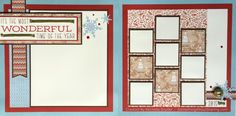 Christmas scrapbook pages to celebrate the most wonderful time of the year. Workshop Kits available. #SomethingAboutSharing #ctmhwhitepines #christmasscrapbooking