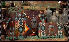 Hand Painted Purse & wallet set  By  Rez Hoofz   One by REZHOOFZ