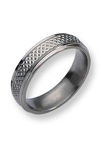 Titanium celtic ring for men