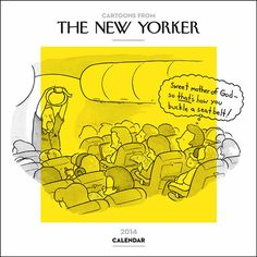 Bring some comic relief into your daily life with the Cartoons from The New Yorker 2014 Wall Calendar. Each month features a New Yorker cartoon, and the grids contain plenty of space to jot down appointments, meetings, or activities each day. A bonus cartoon and a notes section are featured at the bottom of each monthly spread. http://www.calendars.com/Cartoons-and-Comics/New-Yorker-Cartoons-2014-Wall-Calendar/prod201400003072/?categoryId=cat00046=cat00046