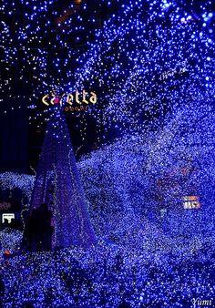 Blue ocean - Christmas in Caretta-Shiodome, Tokyo, Japan