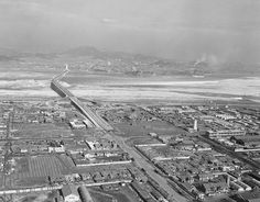 1960년대 양화대교(당시 제2한강교)의 모습. 오른쪽 연기나는곳이 당인리발전소.