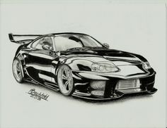 toyota_supra_tuning_car_drawing_realistic_by_maxbechtold-d7e9y96.jpg (2193×1699)