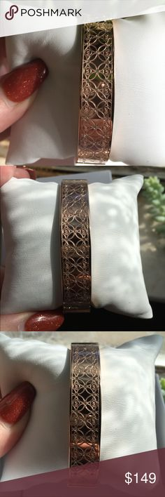 Gorgeous MK Rose Gold Etched Bangle Like. I. Said. Gorgeous.  Michael Kors Etched Bangle.  Brand New and still attached to Pillow.  Classy and So Beautiful. Michael Kors Jewelry Bracelets
