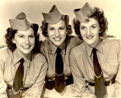 There were no trios during the big band era bigger than the Andrew Sisters. They perfect harmony with their beautiful vocal quality made them favorite war time group.