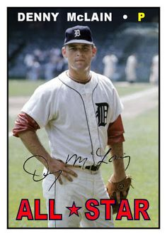 1967 Topps Denny McLain All Star, Detroit Tigers, Baseball Cards That Never Were