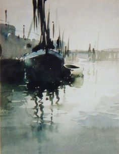 example of a sketch of 'boats on water' Claude Buckle. Watercolor Artists, Watercolor Techniques, Watercolour Painting, Painting & Drawing, Watercolours, Water Ripples, Water Art, Art For Art Sake, Claude Monet