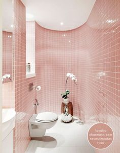 Pink bathroom by Studio XMSL
