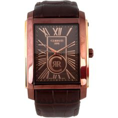 Cerruti Brown Watches ($115) ❤ liked on Polyvore featuring jewelry, watches, cerruti, brown watches, brown wrist watch, brown jewelry and cerruti watches