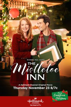 The Mistletoe Inn stars Alicia Witt and David Alpay. Follow their path together on November 23 at 8/7c on Hallmark Channel. #CountdownToChristmas #HallmarkChannel #TheMistletoeInn