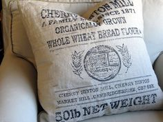CHERRY HINTON MILLS 26x26 Super Large Pillow Cover by yiayias, $65.00