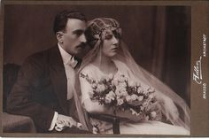 i adore this vintage image of a Romanian Wedding portrait of a bride and groom! Wedding Veils, Wedding Bride, Wedding Dresses, Wedding Attire, Vintage Wedding Photos, Vintage Weddings, Vintage Photos, Vintage Photographs, Romanian Wedding
