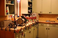 As I mentioned in this post a few days ago and this post from a long time ago we fabricated and installed our copper counter tops ourselve. Copper Countertops, Basement Inspiration, Kitchen Cabinets, Kitchen Appliances, Custom Kitchens, Home And Garden, Kitchen Ideas, House, Kitchen Makeovers