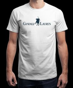 """Gandalf Lauren"" is today's £9/€11/$12 tee for 24 hours only on www.Qwertee.com Pin this for a chance to win a FREE TEE this weekend. Follow us on pinterest.com/qwertee for a second! Thanks:)"