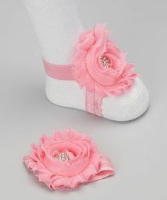 Barefoot Chic Baby Flower Sandals.