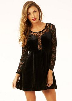 Kristeen Velvet Skater Dress - Holiday Looks - What's New - Alloy Apparel