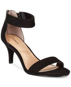 Paycee Two-Piece Dress Sandals, Only at Macy's - Heels - Shoes - Macy's Walk In My Shoes, Me Too Shoes, Dress Sandals, Shoes Sandals, Heeled Sandals, Pump Shoes, Pumps, Zapatos Shoes, Evening Sandals