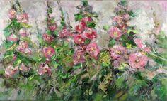 "Saatchi Art Artist Margaret Raven; Painting, ""Garden of Mallows"" #art"