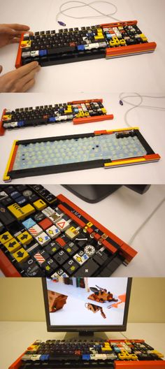 Love Lego? So does artist Jason Allerman, who built a keyboard out of Lego bricks.