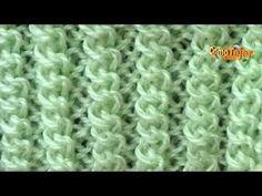 Photo from album «Отдельные вязаные элементы – спицы Crochet Motifs, Tunisian Crochet, Crochet Stitches, Knit Crochet, Knitting Videos, Easy Knitting, Baby Knitting Patterns, Crochet Patterns, Big Knit Blanket