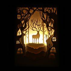 Lamparas 3D night light luminaria novelty veilleuse DIY Paper Art Night lights children lamp 3D paper cut night light