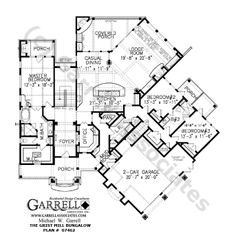 Grist Mill Bungalow House Plan # 07462, 1st Floor Plan, Mountain Style House Plans, Ranch Style House Plans, Wheelchair Accessible House Plans
