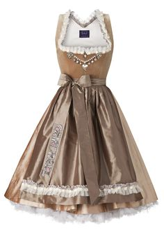 Oh how I adore the rich, sophisticated cafe latte hues in this Samtherz dirndl…