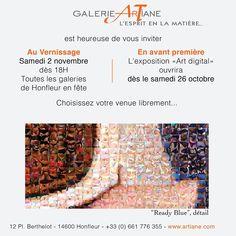 Tania et son équipe vous attendent à la galerie ArTiane... A très vite | Tania #artdigital Honfleur, Cool Art, Art Gallery, Humor, Art Museum