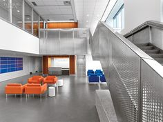 Perkins + Will's Mammoth Police Academy in Queens   Projects   Interior Design - Gotta love the Egg table!