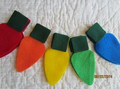 Classic Christmas Lights Felt Die Cuts DIY by PearCreekCottage, $5.00