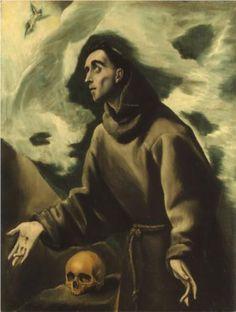 St. Francis receiving the stigmata - El Greco
