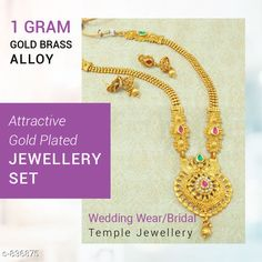 Checkout this latest Jewellery Set Product Name: *Attractive Gold Plated Jewellery Set* Country of Origin: India Easy Returns Available In Case Of Any Issue   Catalog Rating: ★4.1 (3202)  Catalog Name: Women's Elegant Gold Plated Jewellery Sets Vol 3 CatalogID_96664 C77-SC1093 Code: 152-836875-765