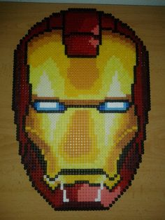 Iron Man Helmet hama perler beads by Jesusclon on deviantART