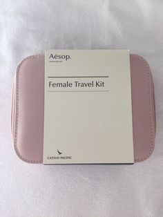 New Rose Cathay Pacific AESOP first class female airline amenity kit