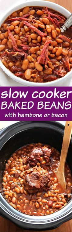 Slow Cooker Baked Beans - comfort food classic made easy in the slow ...