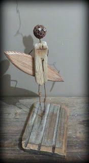 Waiting for... Création surf art en bois flotté et métal