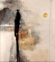 Lombre Du Passe, Mixed Media Painting, Poulin