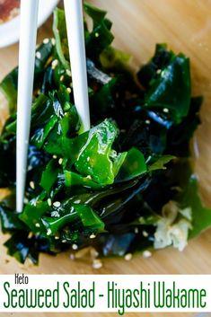 Keto Seaweed Salad-Hiyashi Wakame – Keto Low Carb Salad Recipes – Site Name Seaweed Salad Recipes, Salad Recipes Low Carb, Vegetarian Recipes, Healthy Recipes, New Recipes, Whole Food Recipes, Korean Recipes, Wakame Salad, Quinoa Mac And Cheese