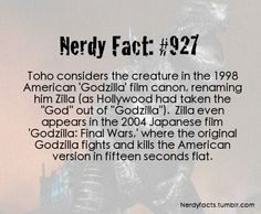 Nerdy Facts: 927