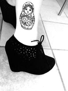 matryoshka tattoo outline