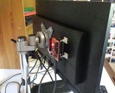 Установка устройства на монитор