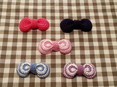 かぎ針編みで ☆ まるっこいリボンの作り方|編み物|編み物・手芸・ソーイング|ハンドメイドカテゴリ|アトリエ