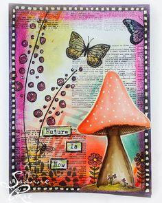 Mixed Media und ein Digi Stamp