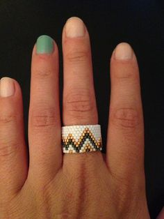 Handmade Chevron Ring  by ClaireElizabethB on Etsy