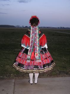 Hello all, This is a photo of my friend Jennifer in her Sárköz costume. The region of Sárköz [pronounced sharkeuse] is well known i. Hungarian Embroidery, Types Of Embroidery, Embroidery Patterns, Folk Costume, Costumes, Folklore, The Man Show, Dream Pop, Folk Clothing