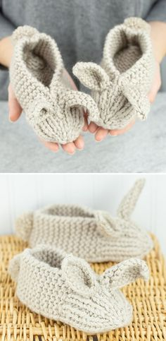 – Stricken ist so einfach wie 3 Stricken … – – Family Bunny Slippers – Kostenloses Muster, Adorable Brosche Free Crochet Pattern – – Bunny Ear Pillow Free Pattern # Bunny Ear Pillow Free mini konijntjes en … Baby Knitting Patterns, Knitting For Kids, Knitting For Beginners, Knitting Socks, Free Knitting, Knitting Projects, Crochet Projects, Crochet Patterns, Knitting Needles
